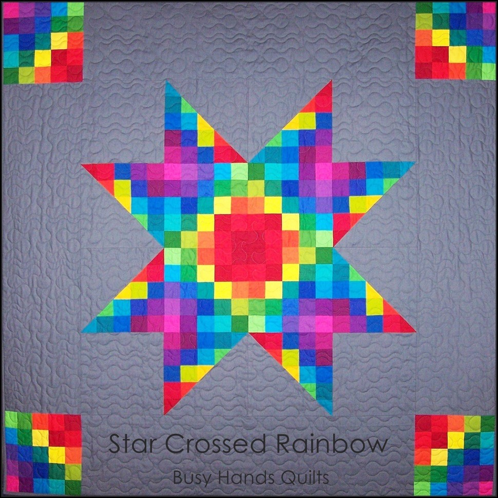 Star Crossed Rainbow in Gray