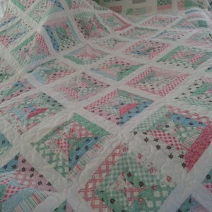 Scrappy Baby Quilts in Pink