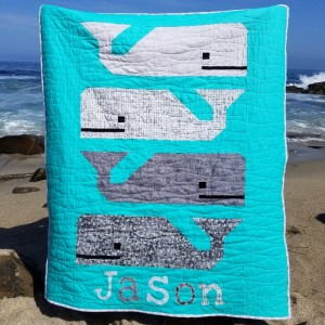 Preppy Pod whale baby quilt