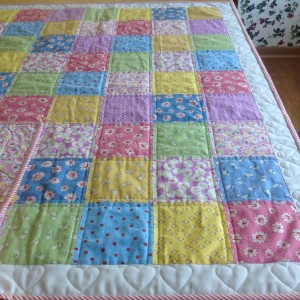 Lecien Retro Child's 30's Bunny Baby Quilt