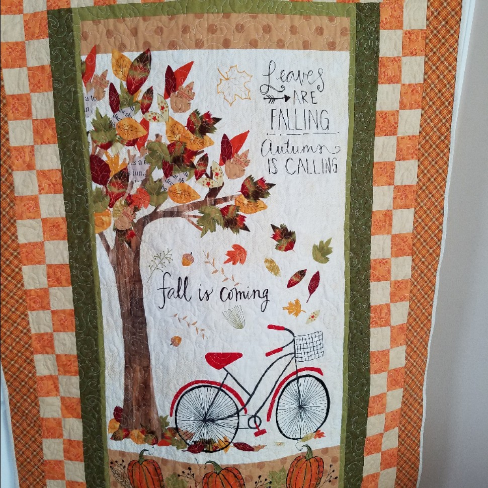 Autumnal Bike Quilt