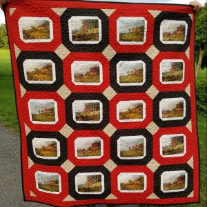 English Foxhound Hunt quilt