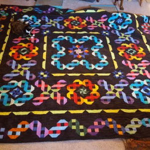Rainbow Ribbon Quilt