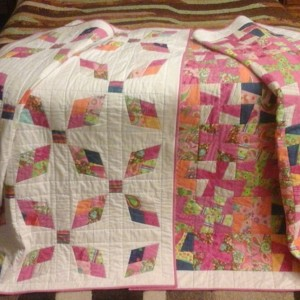 Twin quilts from Ugly Jelly Rolls
