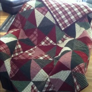Flannel quilt for hubby