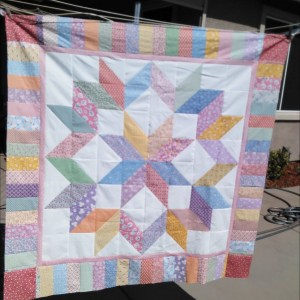 Carpenters Star Reproduction Fabric Quilt