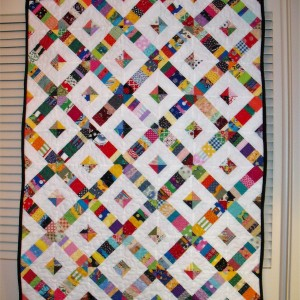 Strips and Strings-Crosswalk Quilt