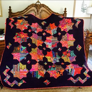 Loud double square star quilt