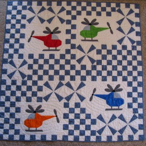 Helicopter baby quilt