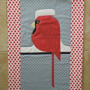 A Christmas Cardinal inspired by Charley Harper