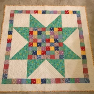 Big Star Block Baby Quilt