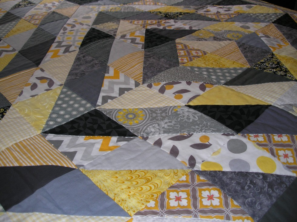 Yellow/Gray Value Quilt For My Friend