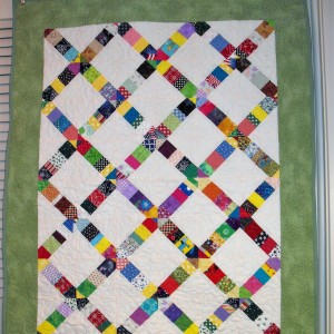 Jenny's Crosswalk quilt with 2 views