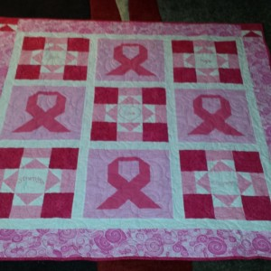 Pink Ribbon Friendship Quilt
