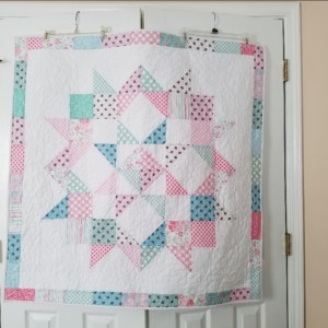Shabby Chic Baby Star quilt