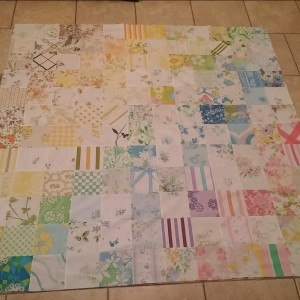 Old sheet quilt