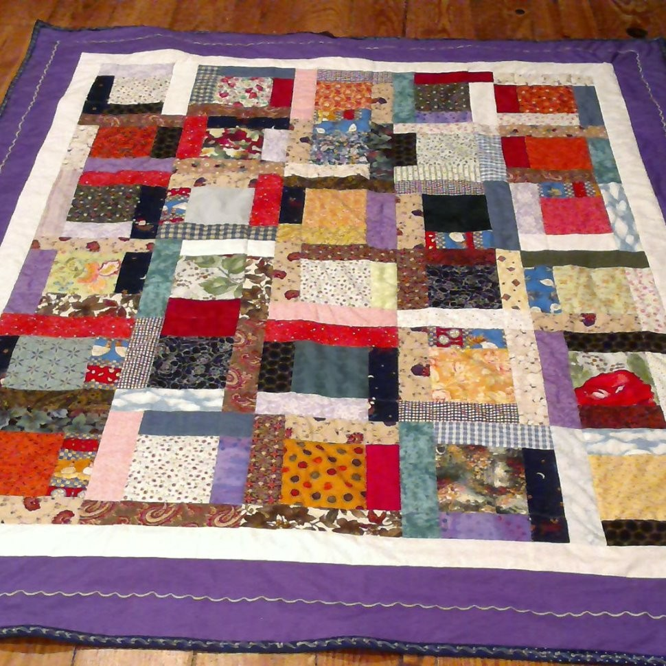 Colorful Vintage block quilt