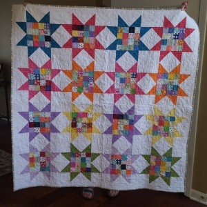 Star quilt for church raffle