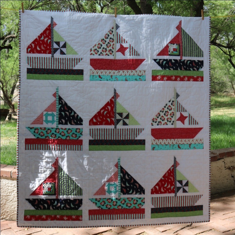 Sweet Fleet Lap Quilt