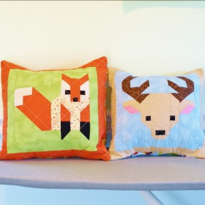 Deer and fox pillows
