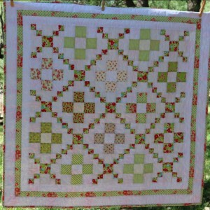 Green Irish Chain Baby Quilt