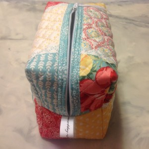 Zippered Pouch From A Quilted Placemat