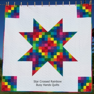 Star Crossed Rainbow Lap Quilt