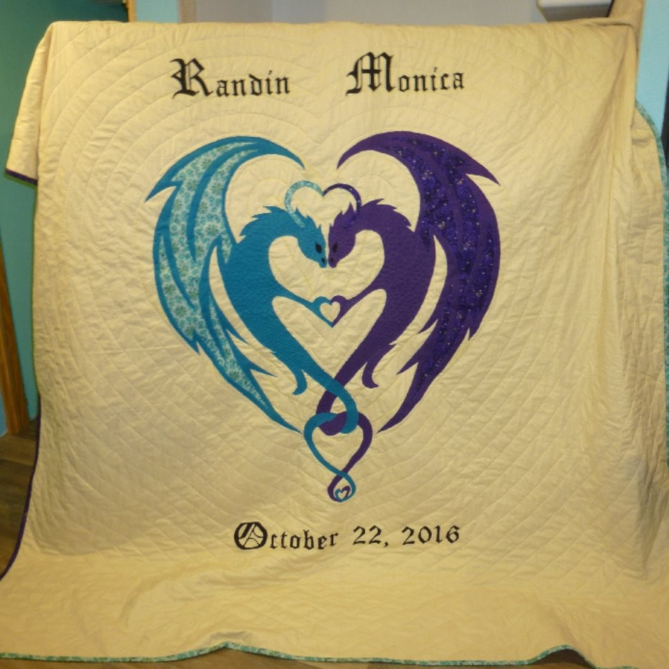 Dragon Hearts Wedding Quilt