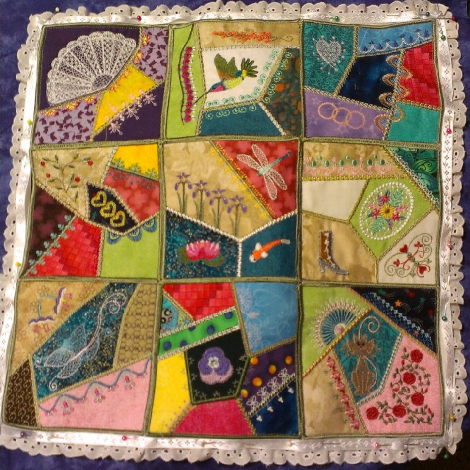 Kayli's Crazy Quilt Pillow