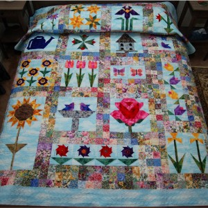 The FlowerGarden Quilt, designed by  M. Golimowski