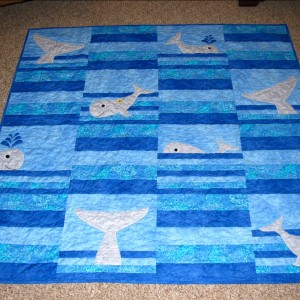Whale Tails baby quilt