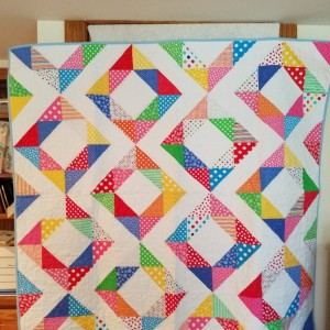 Fresh Diamonds Multi-bright Quilt