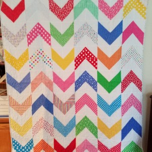 Multi-bright Arrow Baby Quilt