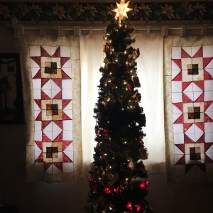 Christmas Curtains to frame my tree