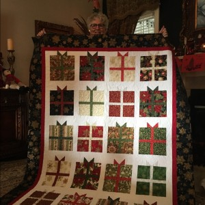 Christmas presents quilt