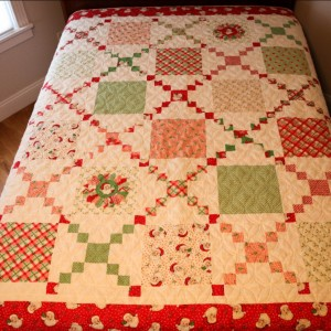 Retro Swell Christmas Quilt