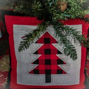 Buffalo Plaid Christmas Tree pillow