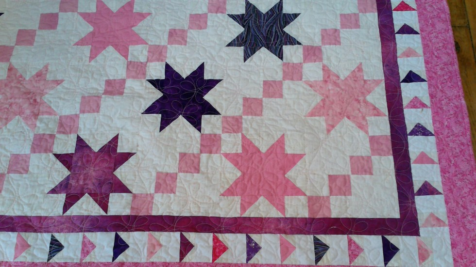Pink and Purple Lemonade quilt