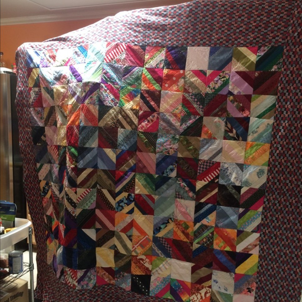 Thrift Store String Quilt As You Go