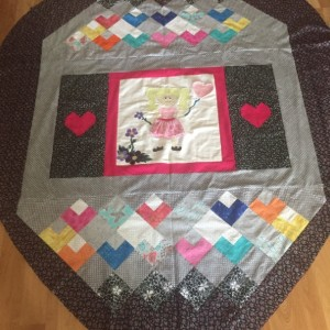 Heart shaped over sized lap quilt