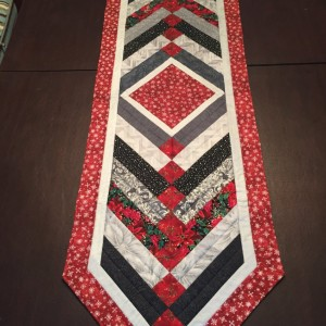 Christmas braided table runner