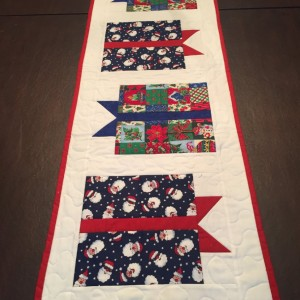 Christmas gift table runner