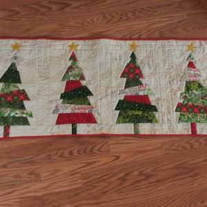 Crazy Christmas Tree Table  Runner