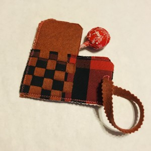 Woven Candy Heart Pocket