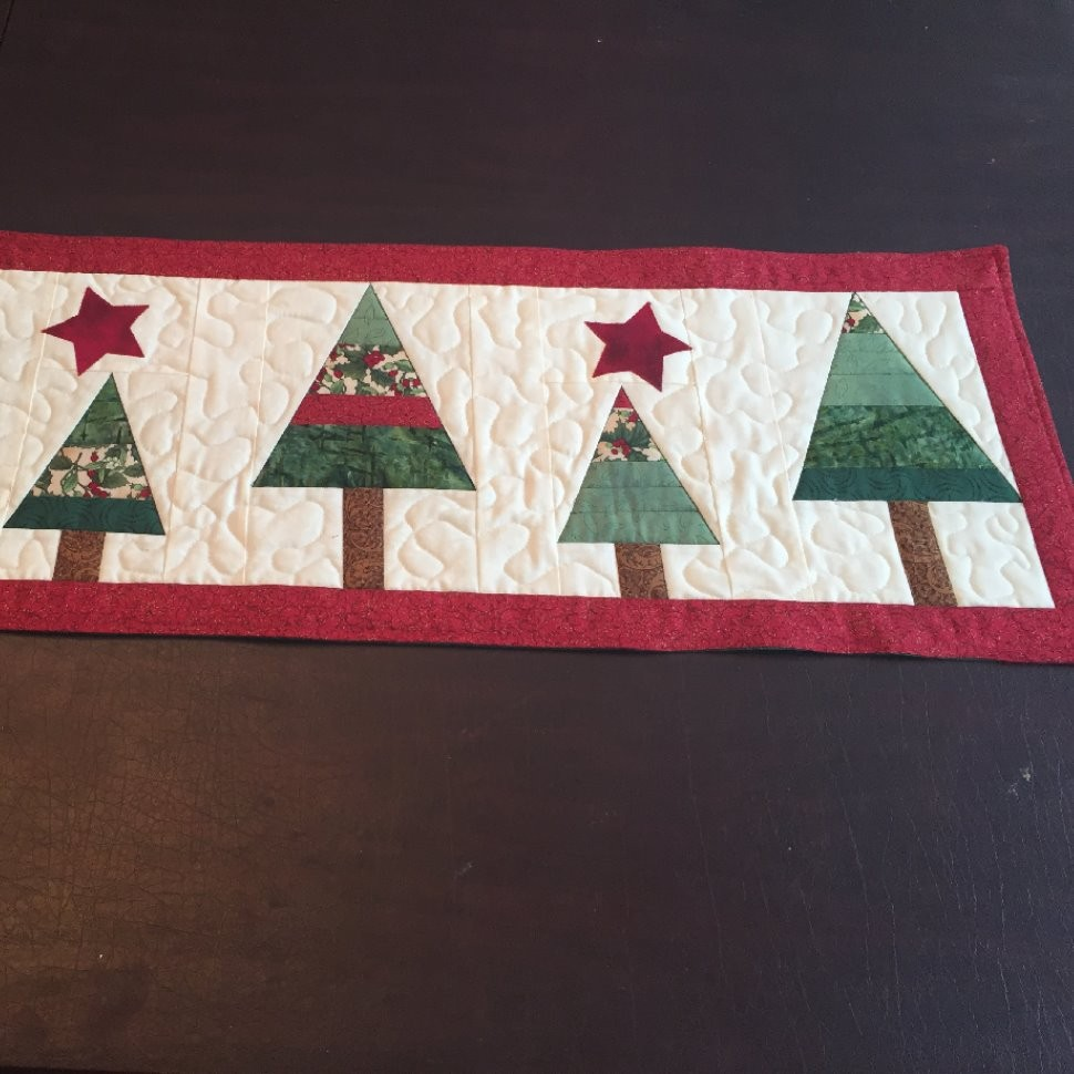 Christmas Trees table runner