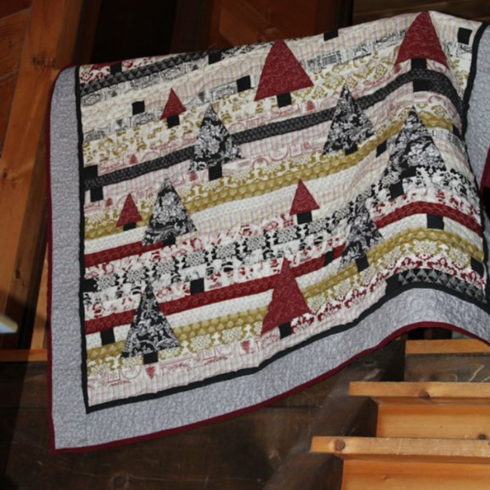 Christmas Past strip quilt