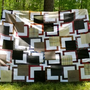 BQ Retirement jacket and tie quilt