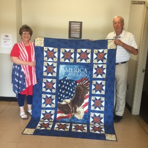 Quilt of Valor for Mayor Burns