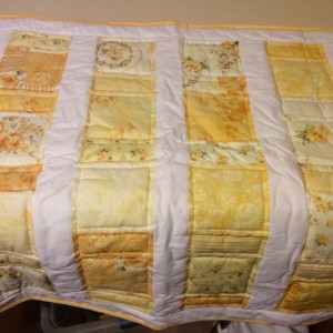 Simple Yellow Baby Quilt
