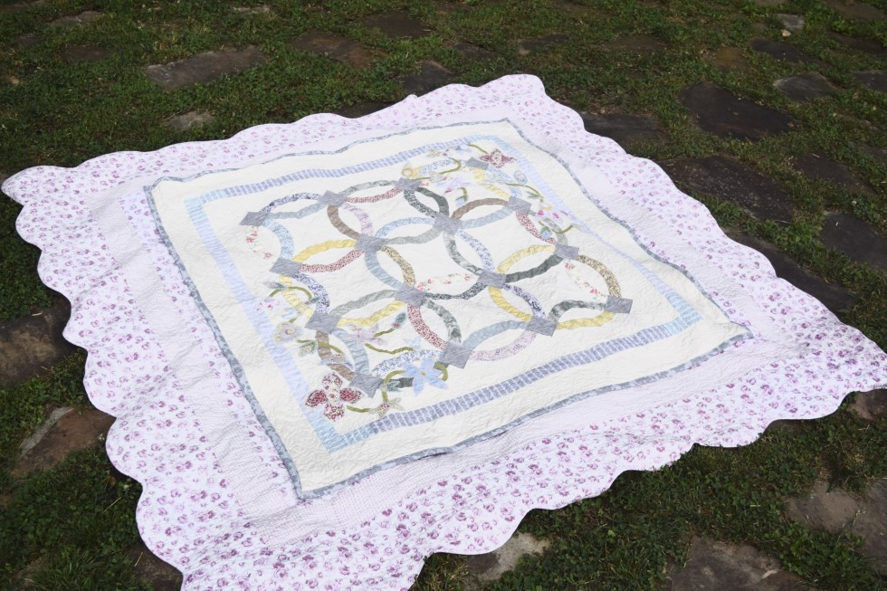 First Double Wedding Ring Quilt II